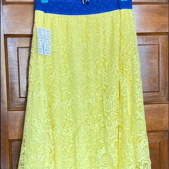 Bright yellow LLR Lola skirt.